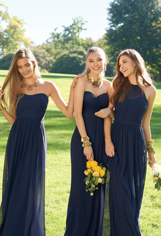 Yellow Bridesmaids Dresses Different Style