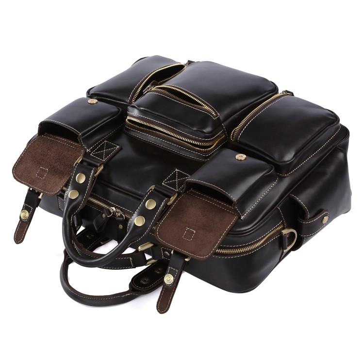 ... Large Handmade Superior Leather Travel Bag   Leather Messenger Bag   Overnight  Bag   Duffle Bag ... 565771d95cc53