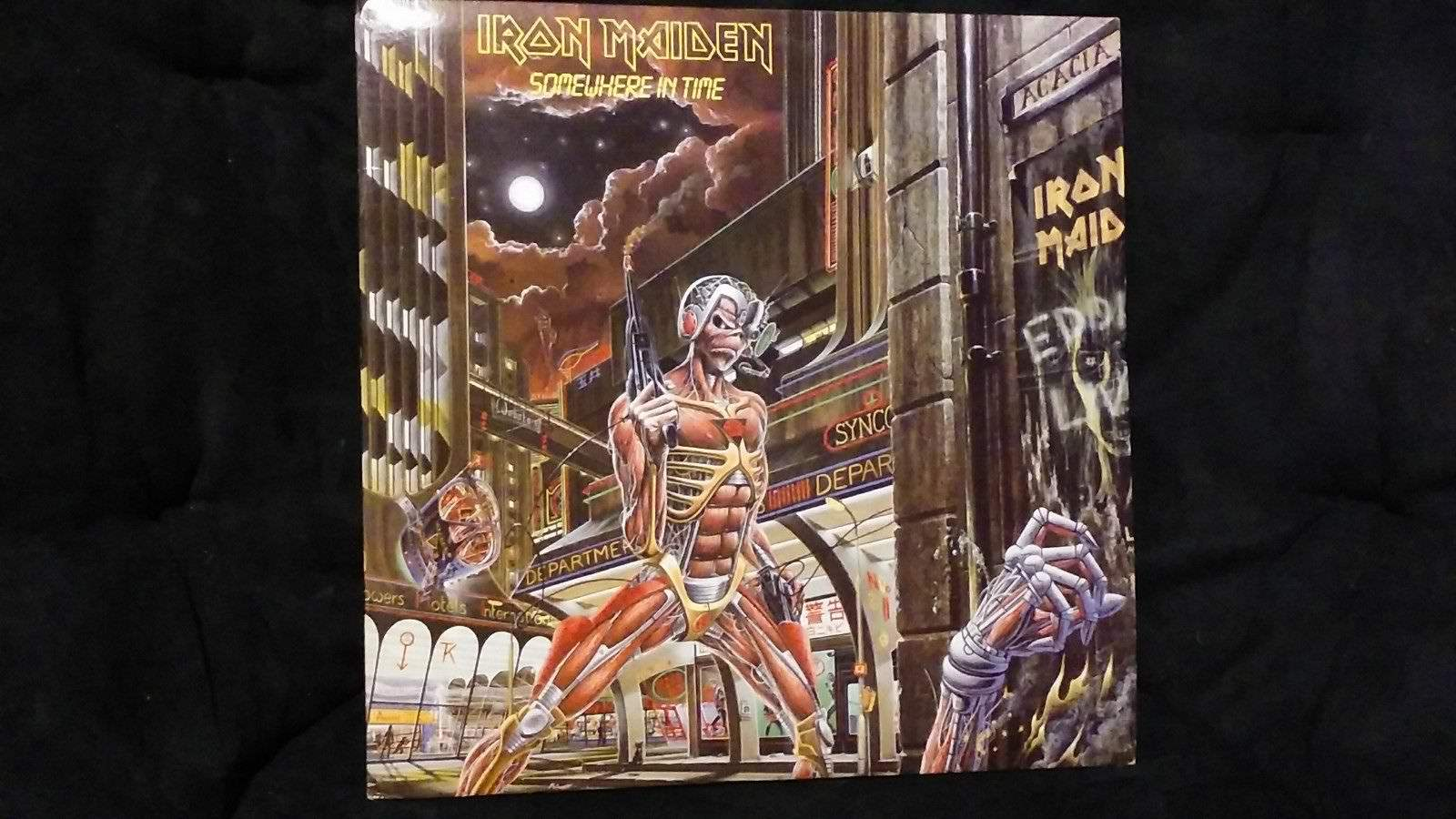 Iron Maiden Somewhere In Time 12 Record Album Lp Sold By All Ways Working