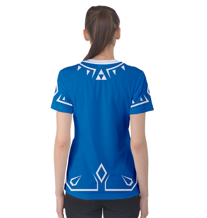 Link Wild Sword Tunic Costume Womens T Shirt XS-3XL from Much Needed Merch