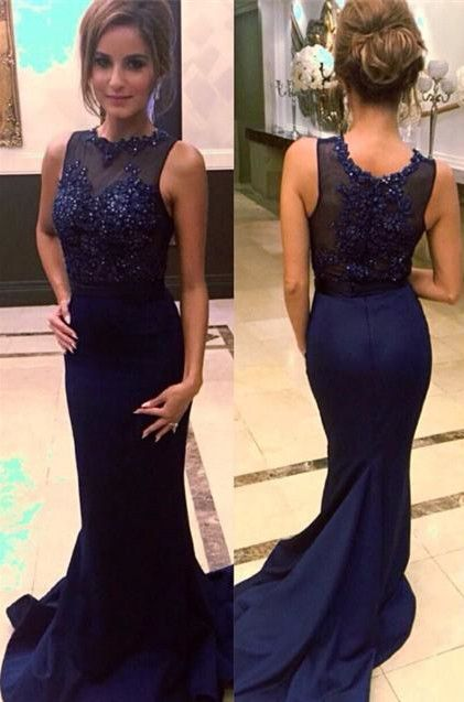 ee3719b5a8e Lace prom dresses Navy prom dresses