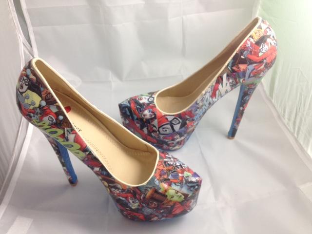 3ba69cc1754a Harley Quinn Comic Book Shoes
