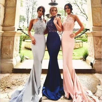 d0561ffe42f Lace mermaid bridesmaid dresses, sexy long bridesmaid dresses, custom  bridesmaid dresses, long bridesmaid