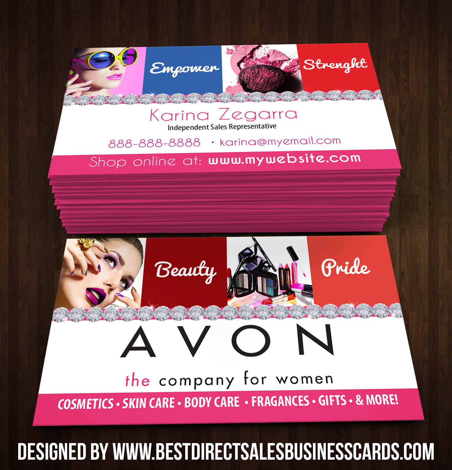 Popular Avon Business Cards style 4 · KZ Creative Services · Online Store  WK87