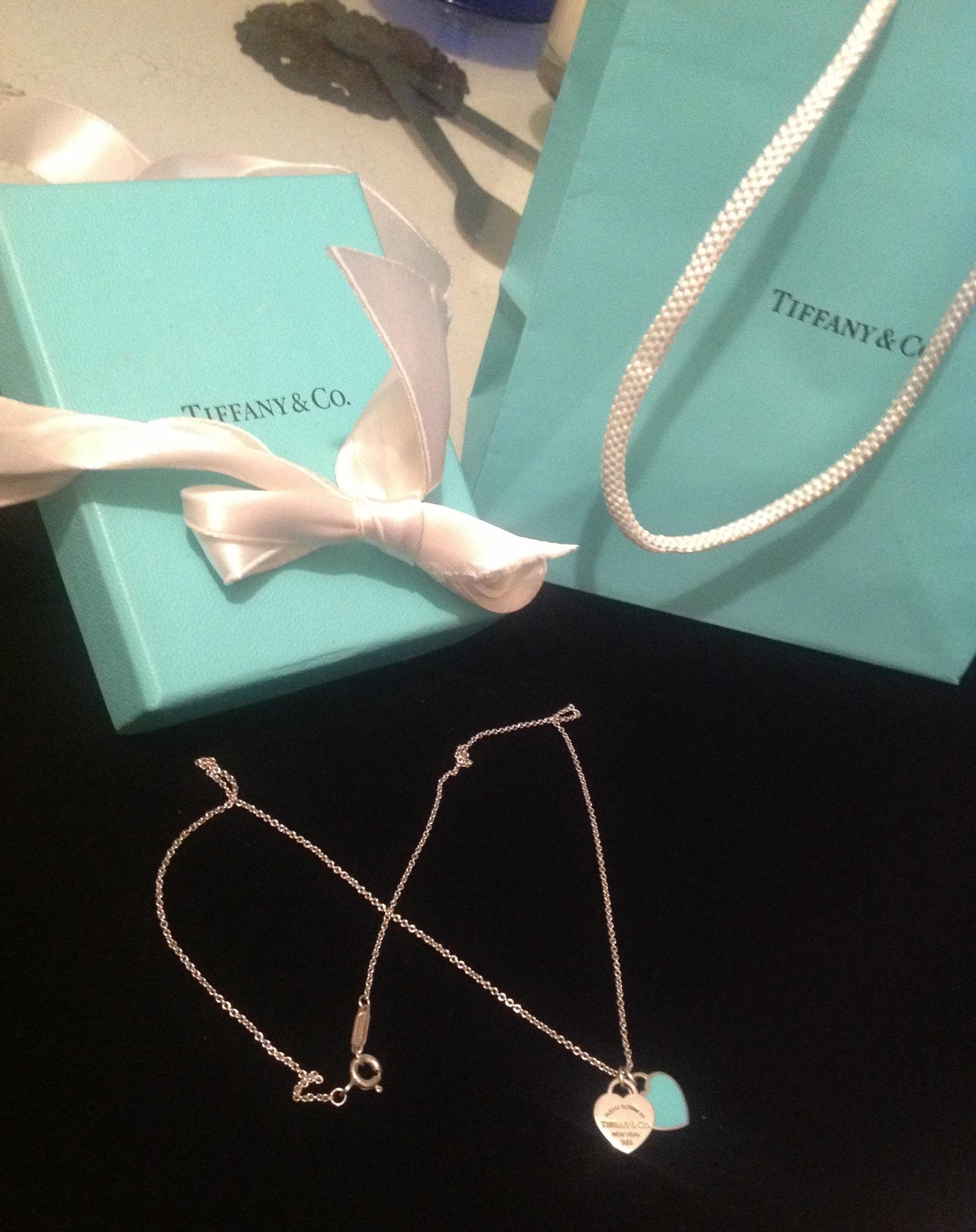 50e493e80 100% Authentic Tiffany @ Co Double Heart Tag Pendant · Kismet ...