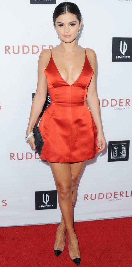 ff9a2c1bc3 Celebrity Dress Sheath Red V-neck Backless Satin Mini Short Red Carpet  Dress Prom Dress ...