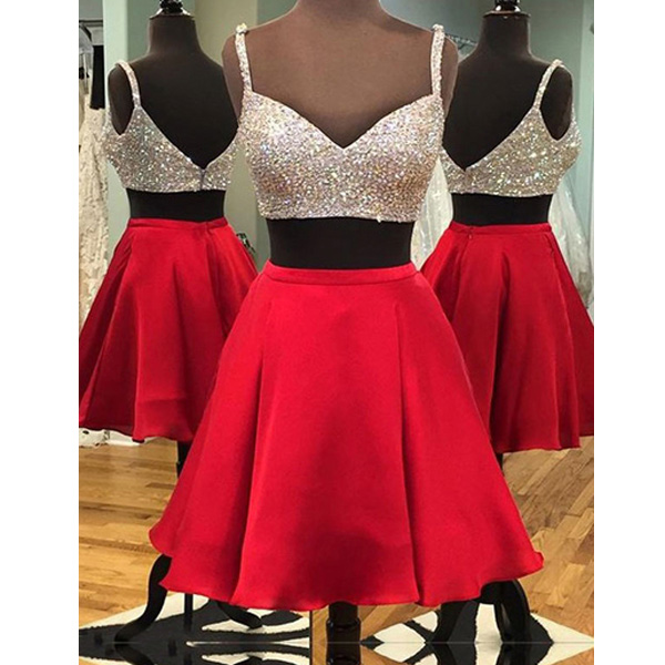 d1a21d2bf20 Red homecoming dress