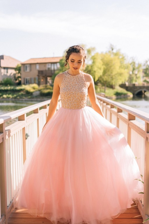 Ball Gown Beading Long Prom Dress,Evening Dress,Charming Prom ...