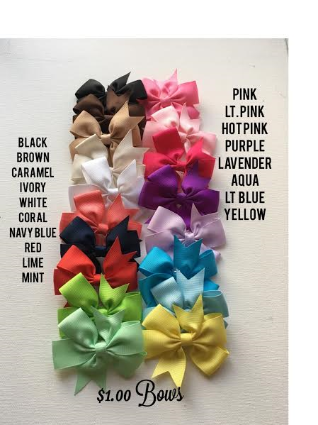 3 Inch Boutique Hair Bows On Storenvy