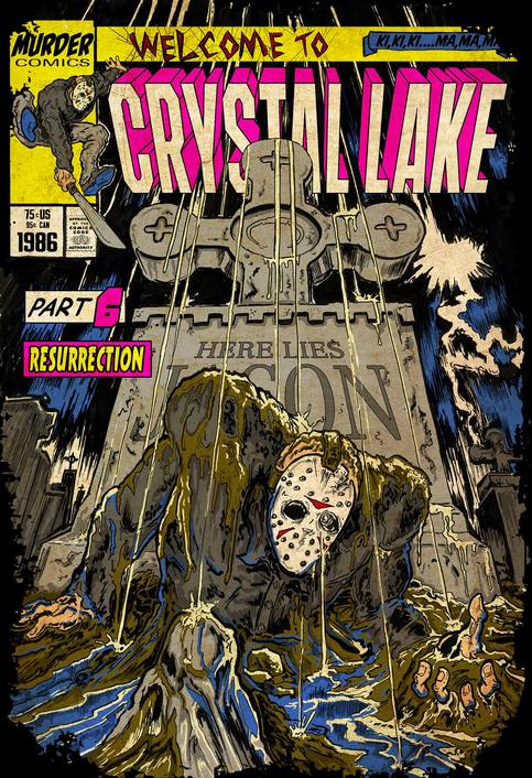 Welcome To Crystal Lake Comic Homage T Shirt On Storenvy