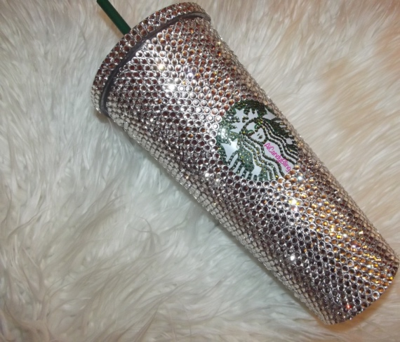Glass Crystal Or Swarovski Starbucks Cold Drink 16oz Or 24oz Tumbler Sold By Aicandybling On Storenvy
