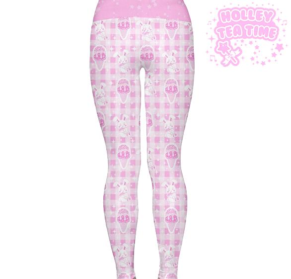 bfe2b4d0a9ff2 ... Sparkle Sweets Yoga Leggings Made To Order Ice cream, Bunny, Kawaii,  Decora
