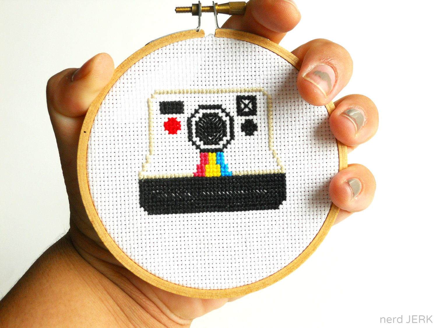 b810c9d1a DIY Nerdy Cross-Stitch Kit - POLAROID 005- Complete with Geeky Beginner  Embroidery Tutorial