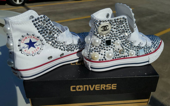 5863f4b8a086 Customized Blinged Out Chucks on Storenvy