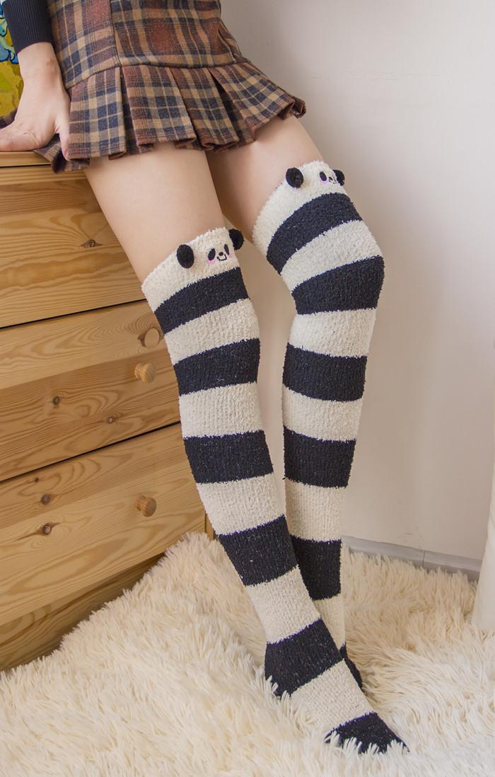 Kawaii Animal Coral Fleece Stockings 183 Himi Store 183 Online