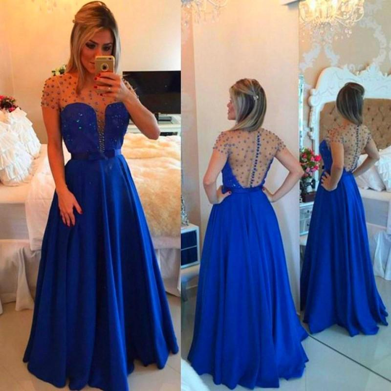 Royal Blue Short Formal Dresses for Adults