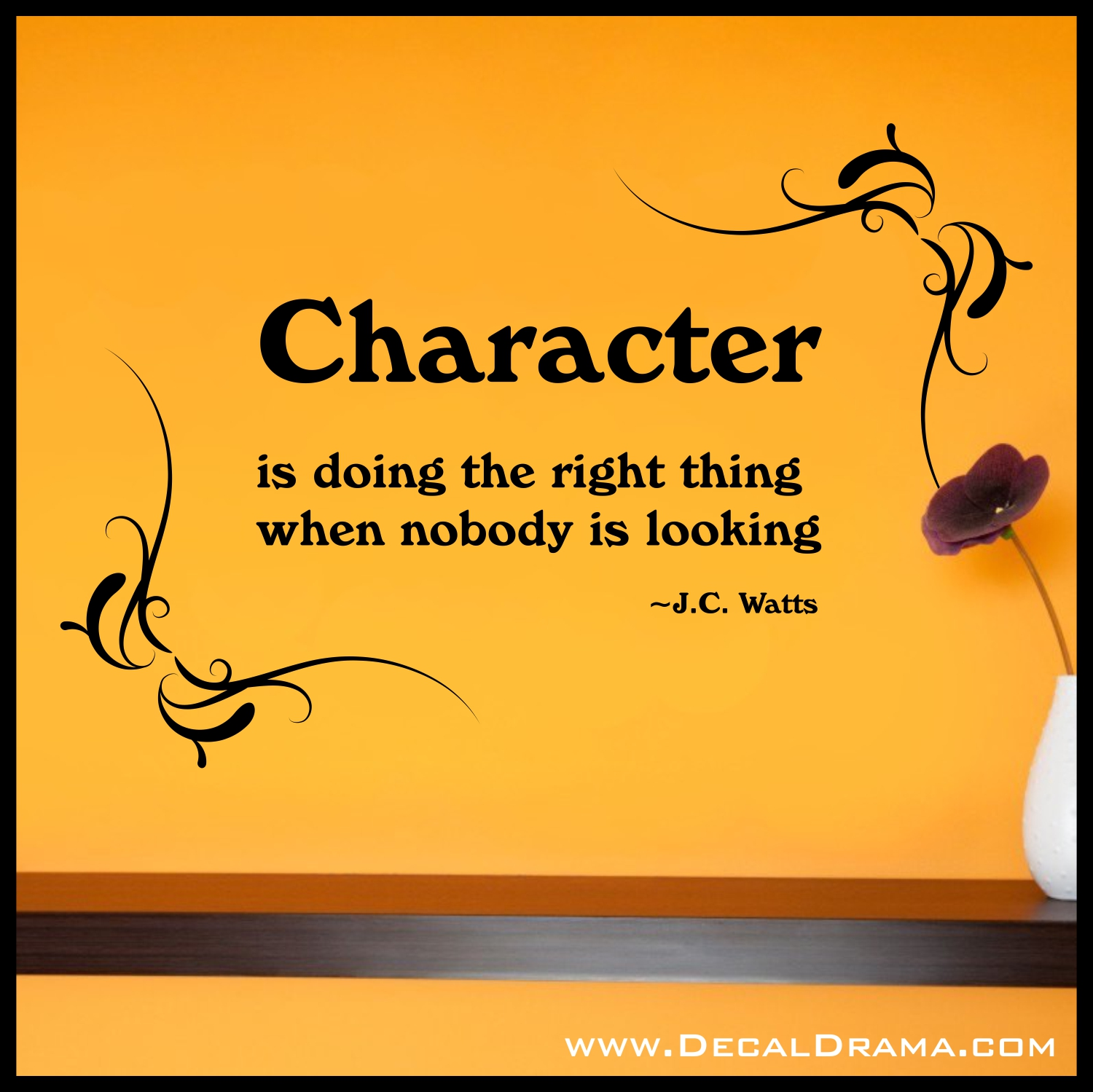 Character (definition) from J.C. Watts Vinyl Wall Decal on Storenvy