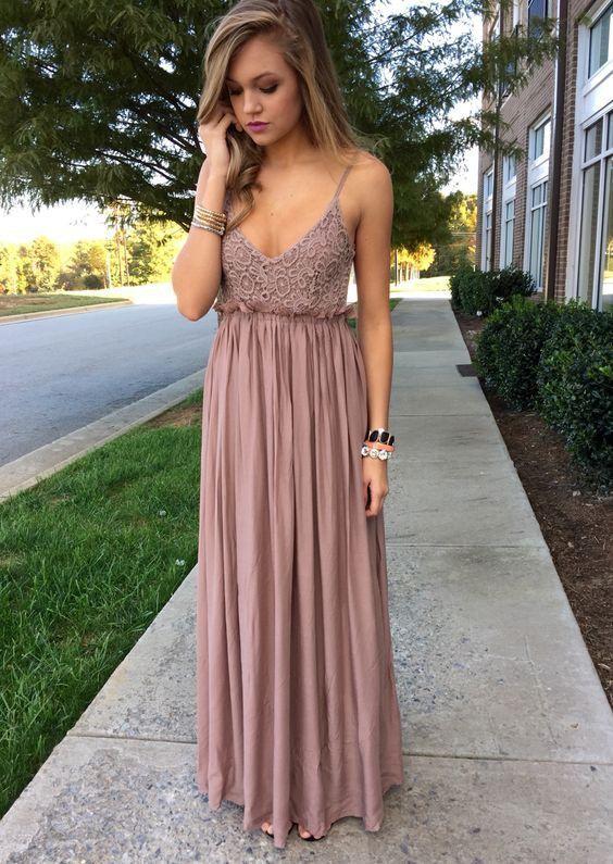 2018 New Arrival Prom Dress ,V Neck Chiffon Evening Dress,Spaghetti ...