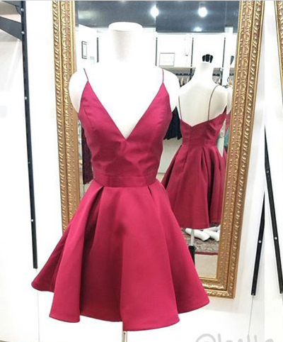 7b8c38c92fdc 2017 Short Prom Dress Homecoming Dress, Red Short Prom Dress Homecoming  Dress, Simple A