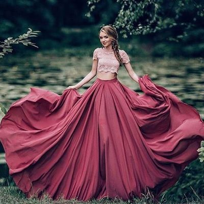b0855f17135 Ball Gown Prom Dress New Gorgeous burgundy Sweep Train lace Sweet 16 ...