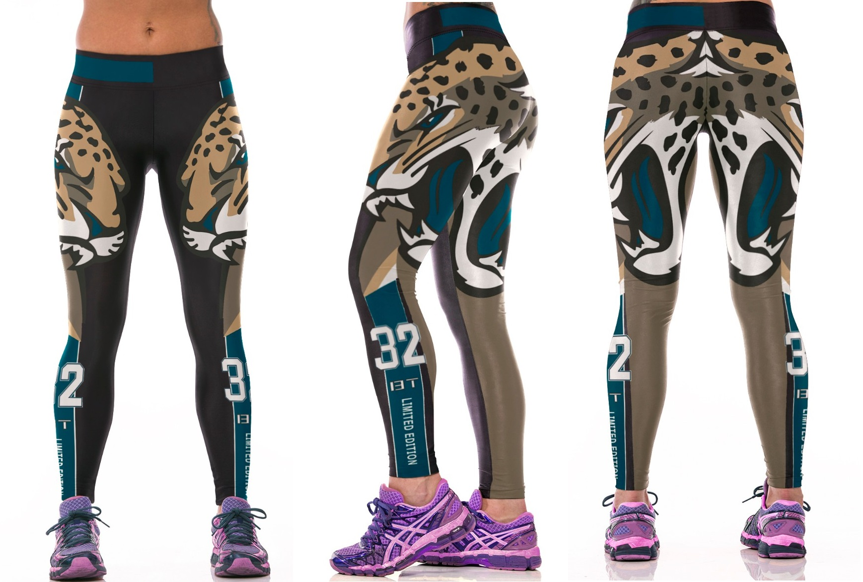 f189dcef Jacksonville Jaguars NFL Sexy Women Leggings Fitness Sports Gym