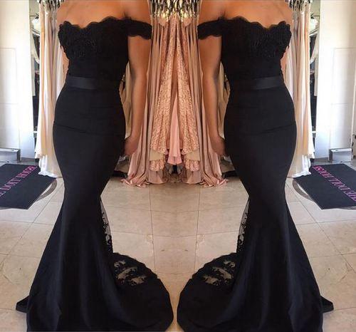 221d2af757 Mermaid off shoulder long prom dress