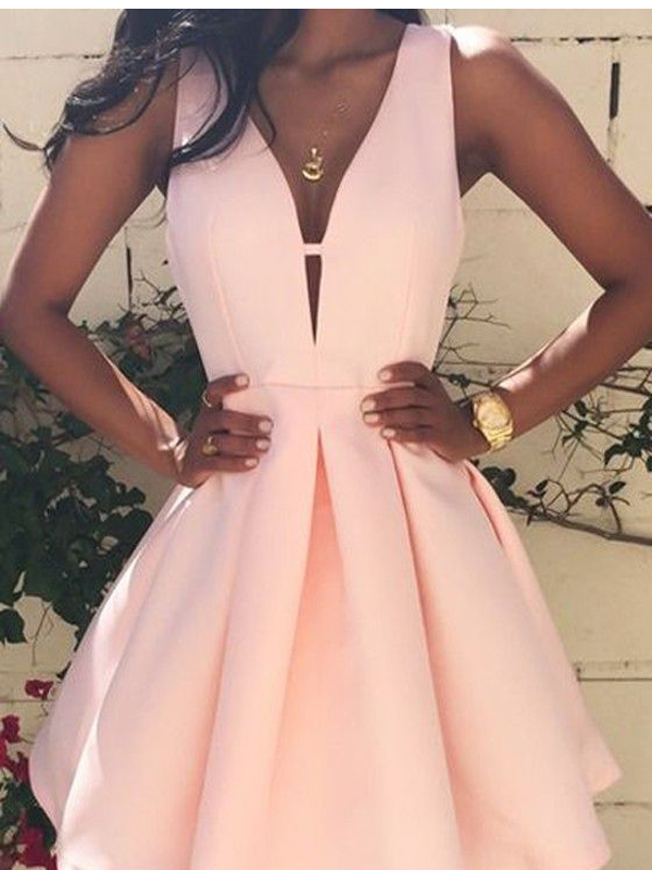 100% authenticated classic styles hot product Short homecoming dress,peach pink homecoming dress,simple homecoming  dress,stain homecoming dress,freshman dress,casual dressPD2110309 from ...