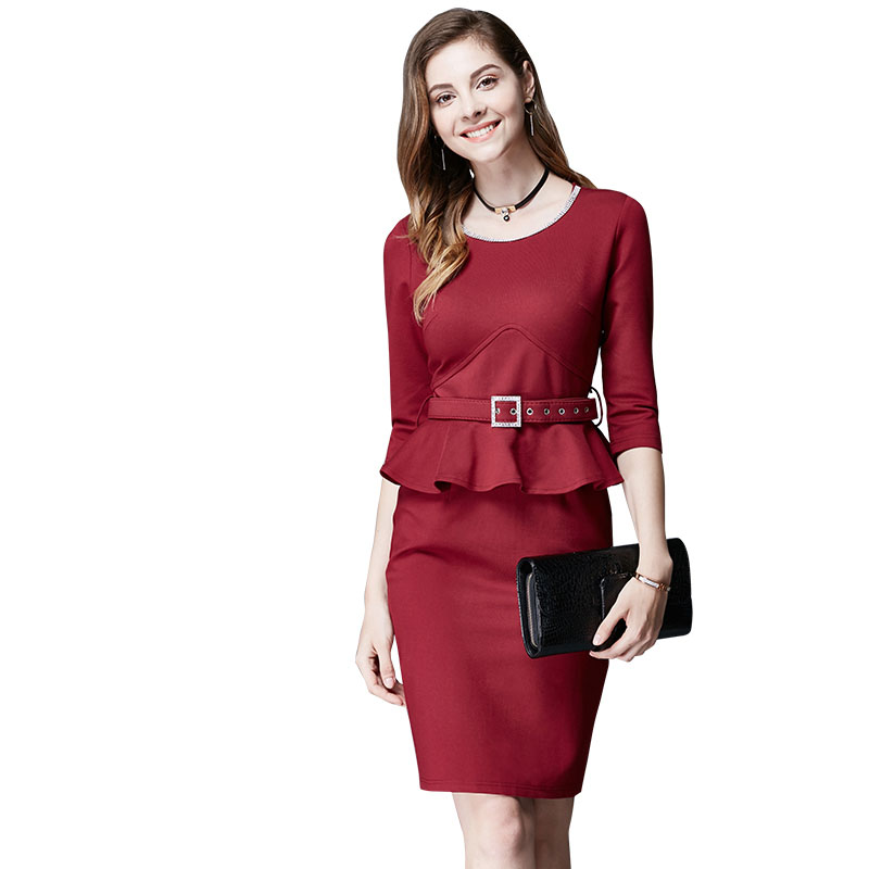 0e4ab7a9c Womens Elegant Vintage Fashion Slim Belted Work Office Business Casual  Party Bodycon Fitted Sheath Pencil Dress on Storenvy