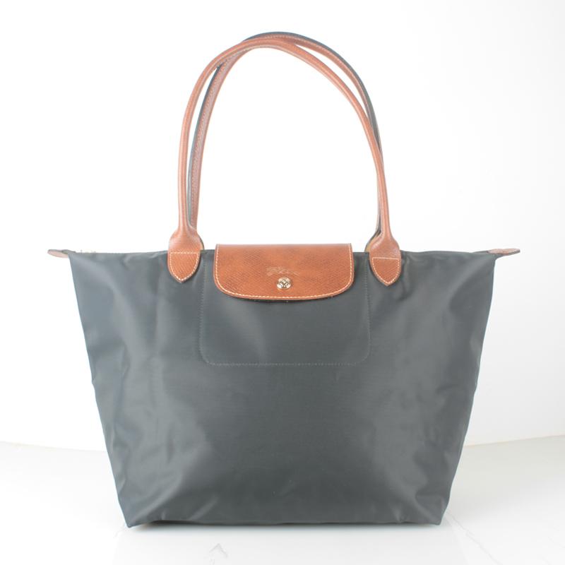 Authentic Longchamp Le Pliage Nylon Large Tote Bag Graphite ... 0c305d4ed0a1b