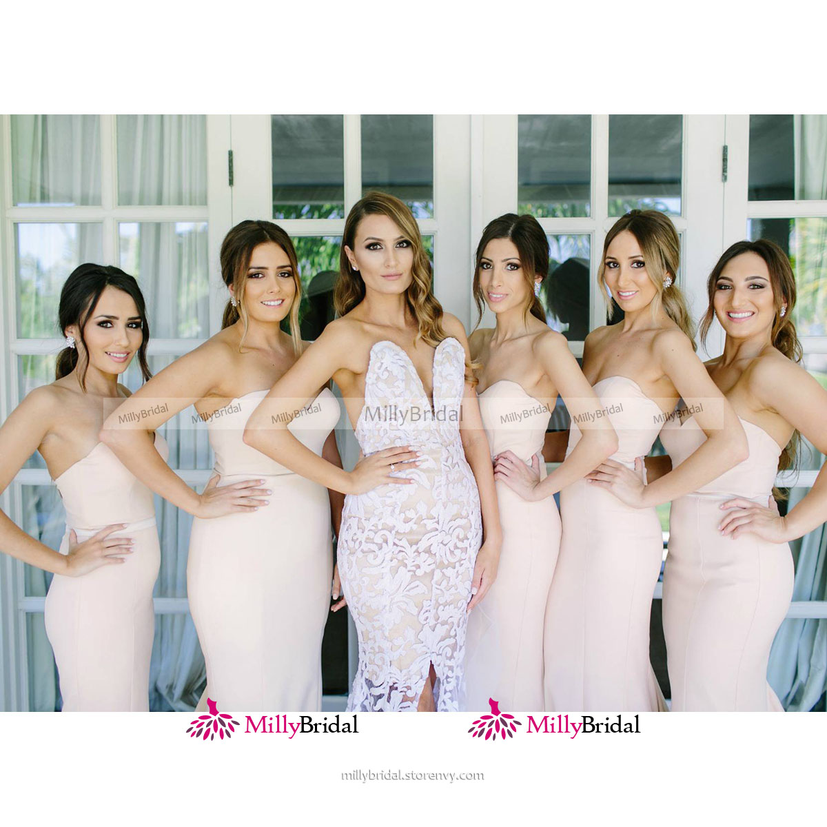 bc5a7ecd8d7 ... Trendy Sweetheart Trumpet Long Bridesmaid Dress