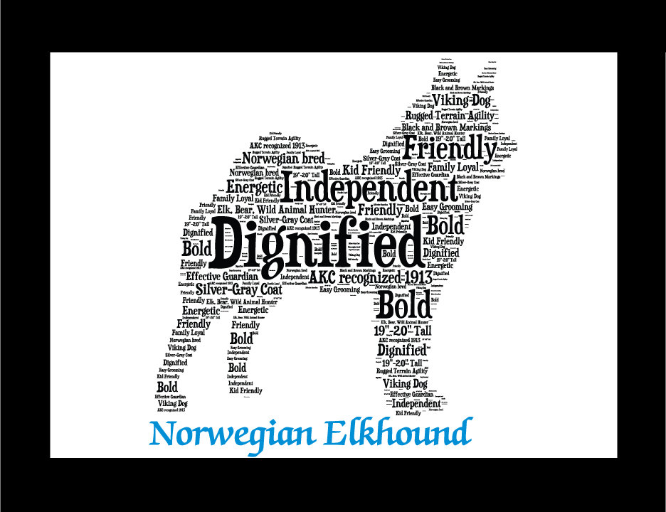 Norwegian Elkhound, Custom Norwegian Elkhound, Personalize Norwegian  Elkhound, Pet Gift, Print, Dog Art, Pet Art, Pet Memorial, Custom Dog