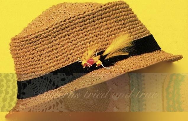 Crochet Pattern Fedora Hat Dyi For Fisherman Hunter On Storenvy