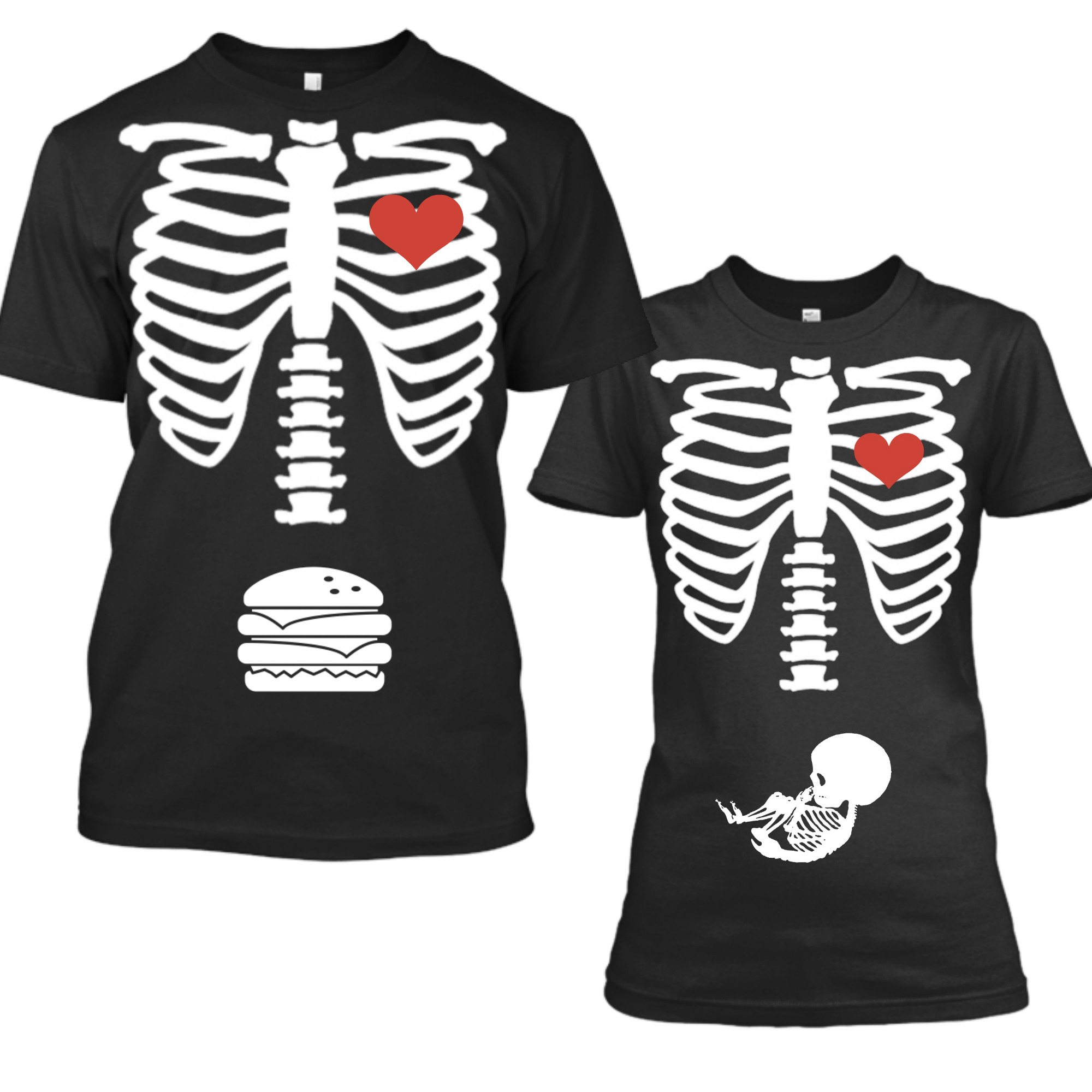 a354be77c52b2 Matching Halloween Pregnancy Announcement Shirts, Skeleton Baby  Announcement Maternity Shirt, Funny Halloween Matching Tshirts ...