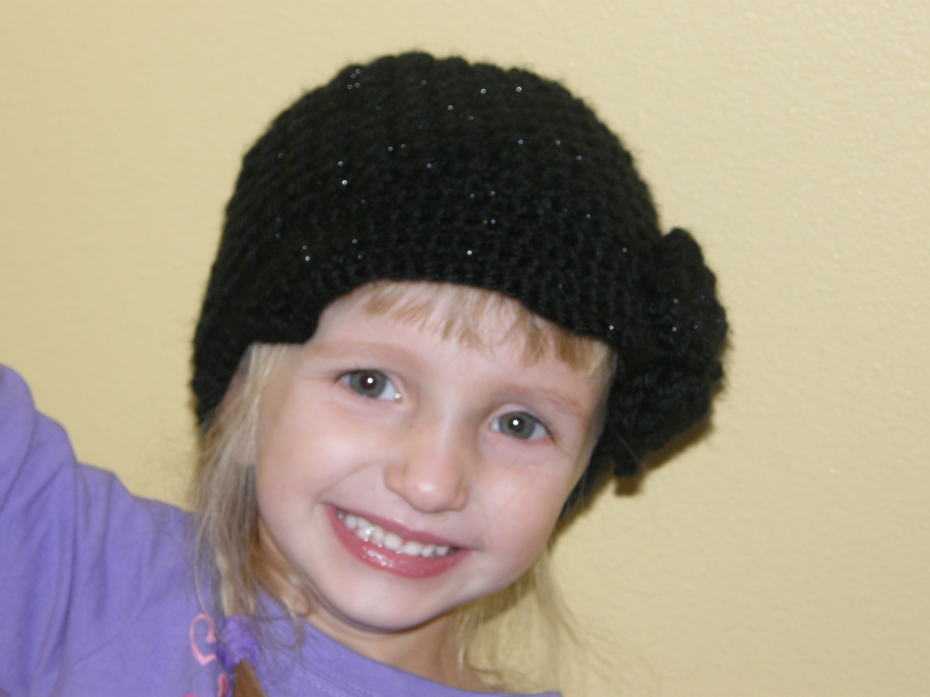0104911b ... Custom Order-Striped Textured Newsboy Hat with Flower - Thumbnail 2 ...