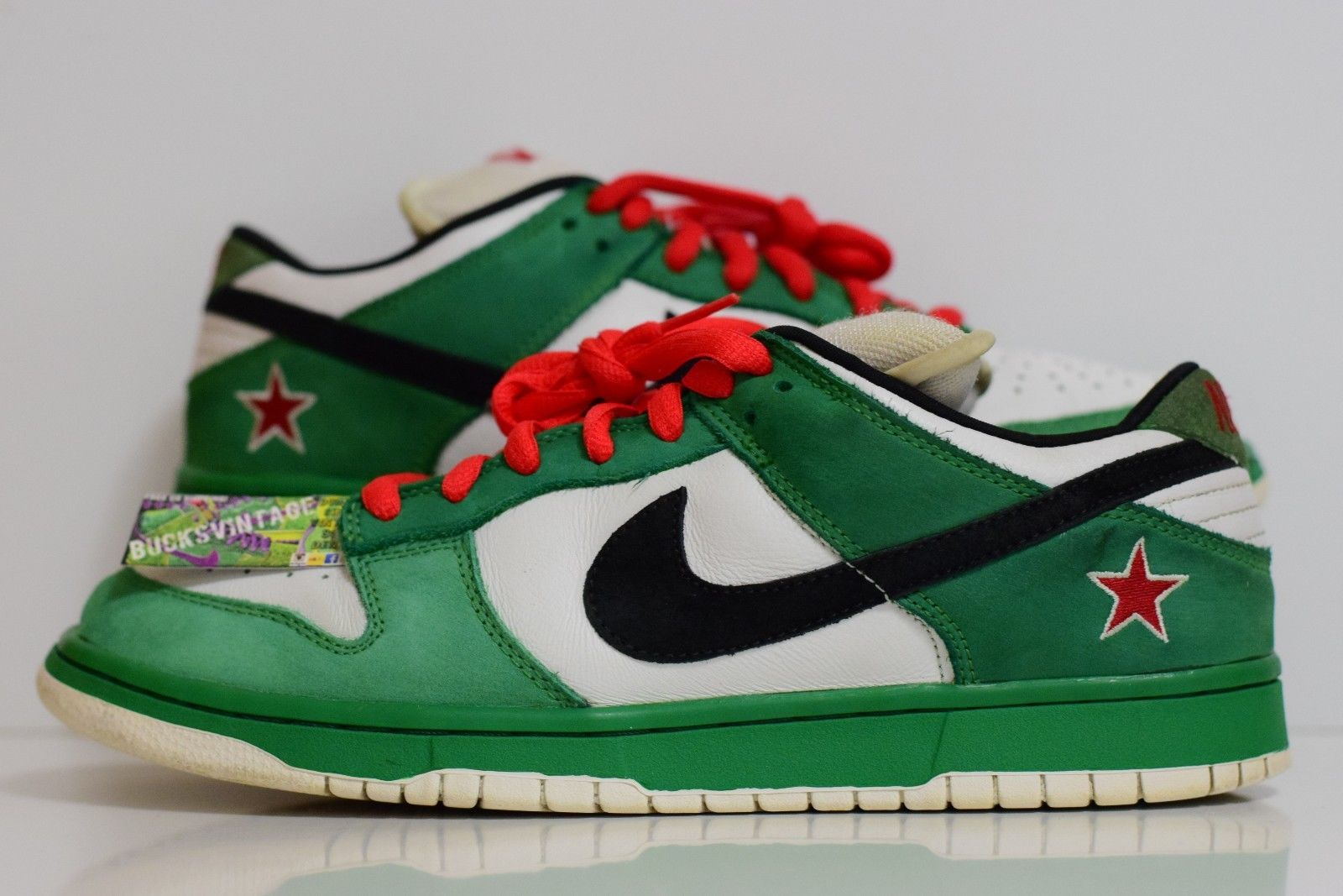 new products c88f8 0ad2a Size 11 | 2003 Nike Dunk SB Low Heineken Premium Authentic Rare 304292-302  from BucksVintage
