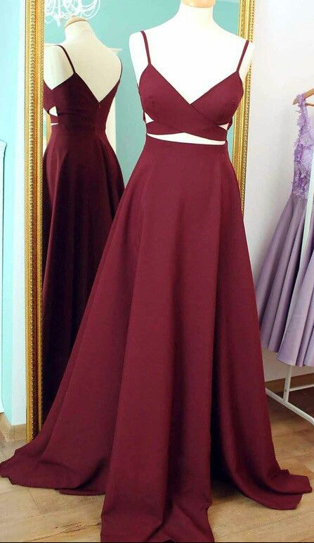 Ball Gown Prom Dresses Wine red LonCharming Prom Dress,Long-Sleeves ...