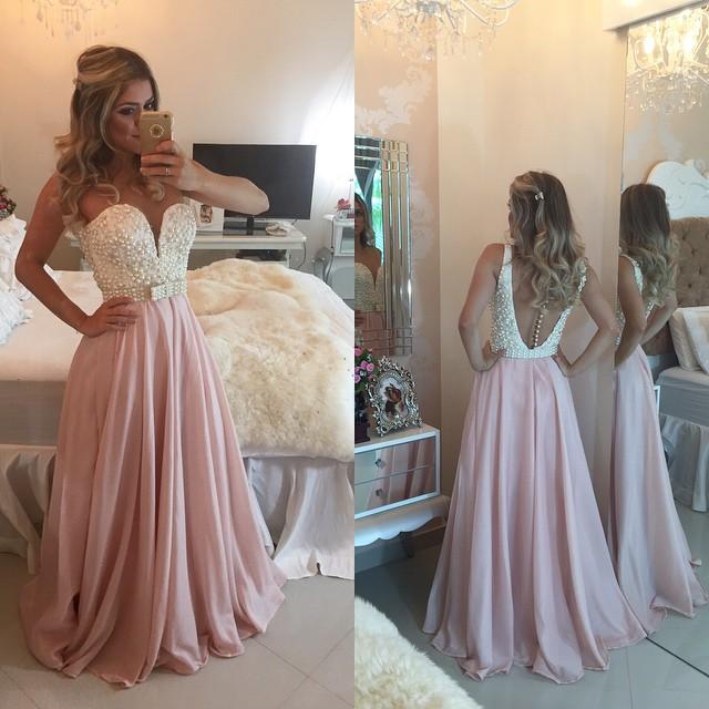 Beading Long Prom Dress Wedding Party Dresses · Promtailor · Online ... 156b2ce534af