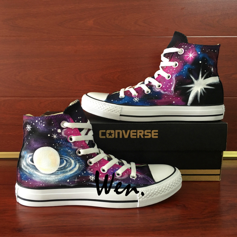 Galaxy Nebula Original Design Converse All Star Custom Design Hand ... 77e50d605577