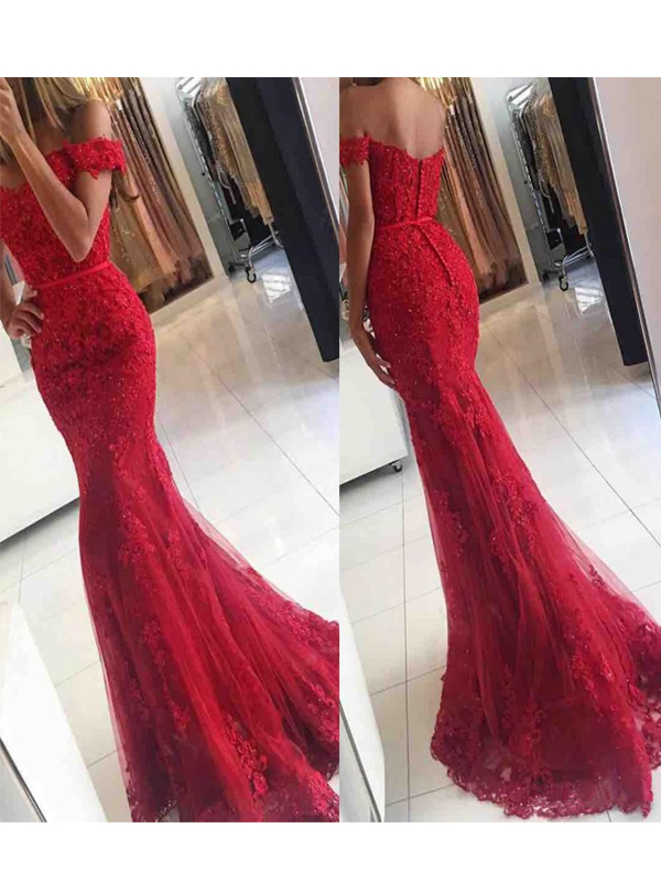 Lace Mermaid Prom Dress 7c4059be9