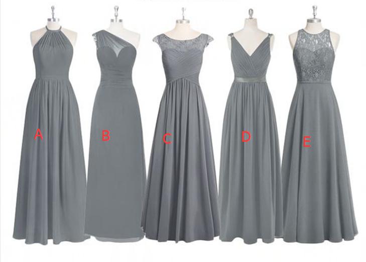 4e72f45aca Grey Lace Bridesmaid Dresses