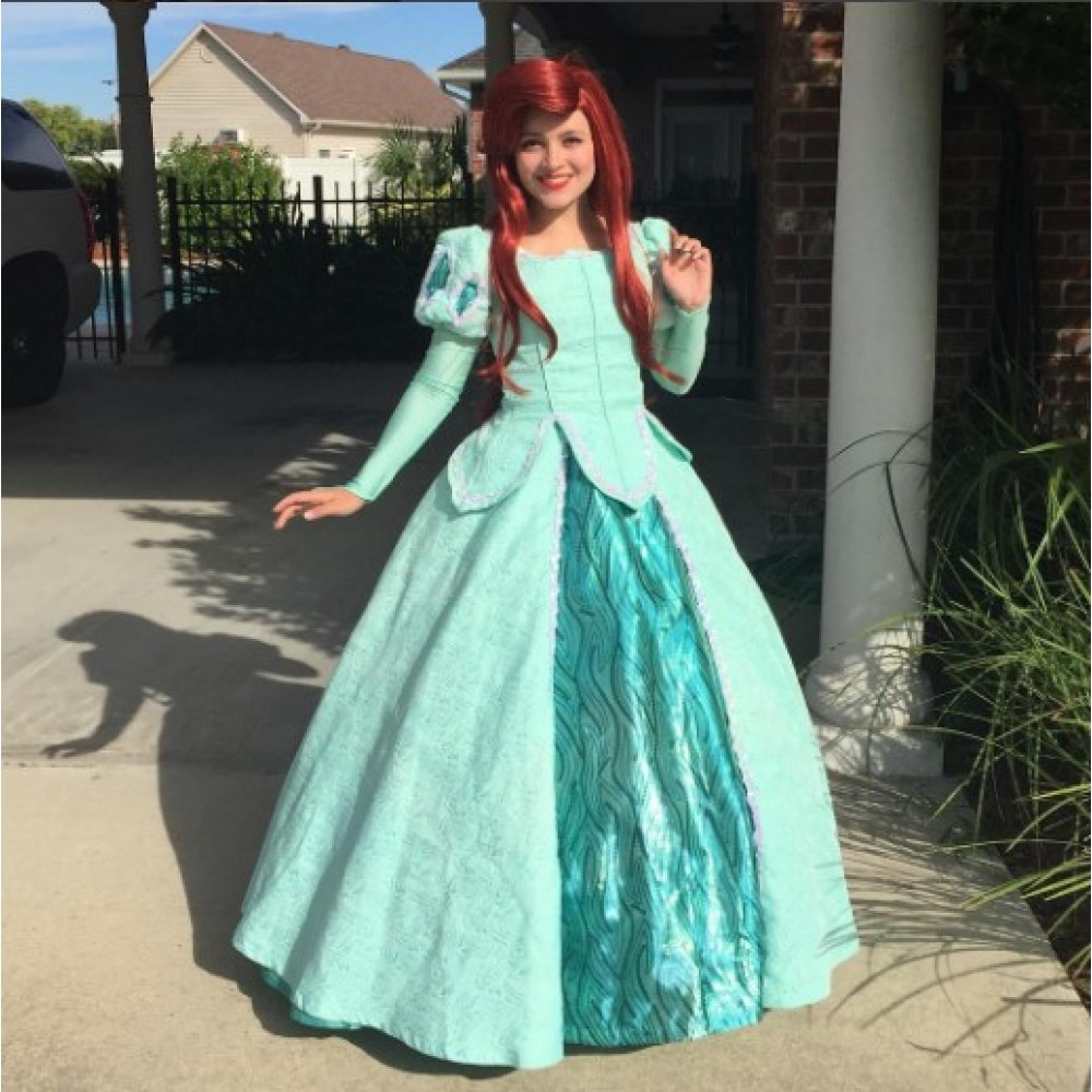 P290 Movies Cosplay Costume movie teal Ariel princess dress with sequins  green on Storenvy 54bea7dc3