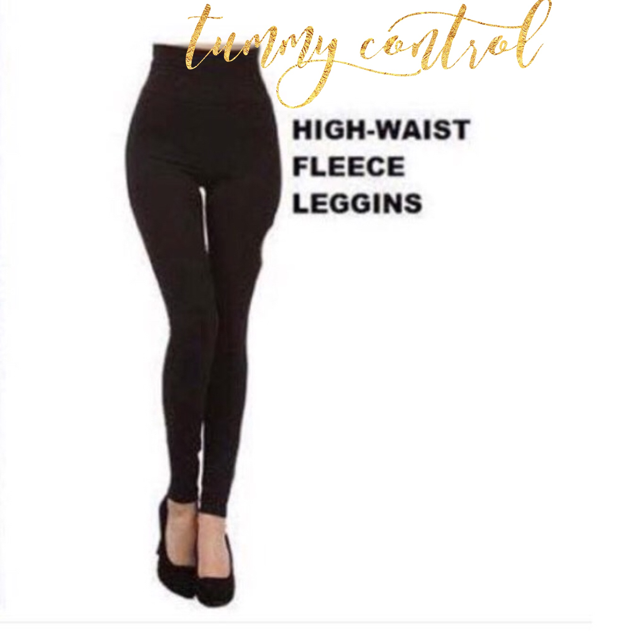 45cf9145afb51 Girlie Secret's} Tummy Control Fleece Lined Leggings · Rustic Lace ...