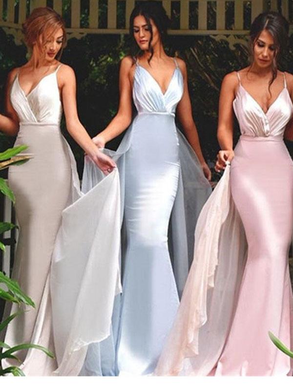 Long Spaghetti Straps Bridesmaid Dress Mermaid Bridesmaid Dress Sexy Bridesmaid Dress Unique Style Bridesmaid Dress Dres For Wedding Party Pd2172