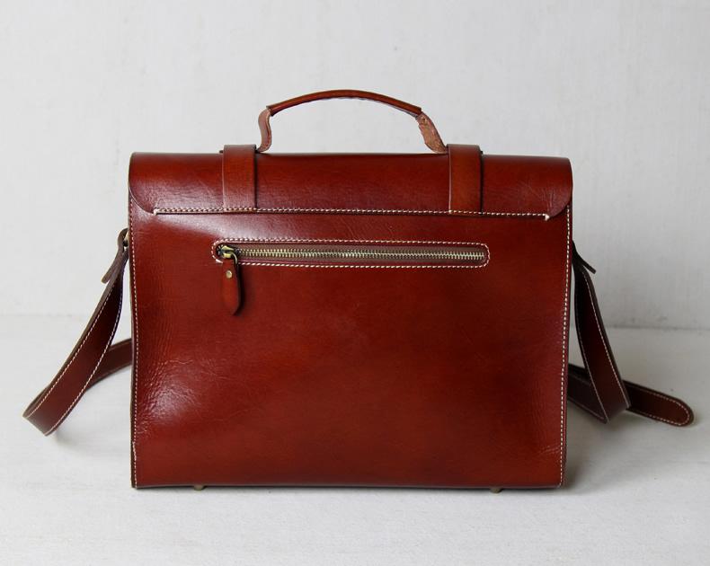 28fb1f264 ... Handmade Vegetable Tanned Leather Briefcase / Messenger Bag #n30 -  Thumbnail 2 ...