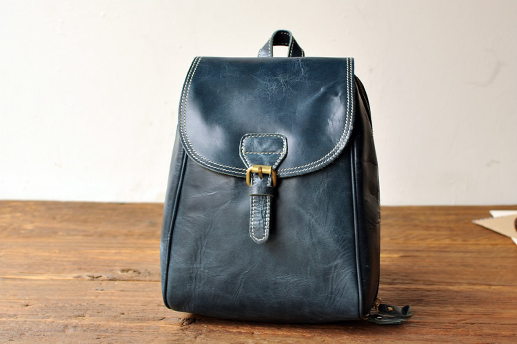 e399310390938 ... Women's Handmade Leather Small Backpack / Day Pack / Satchel - m16 -  Thumbnail ...