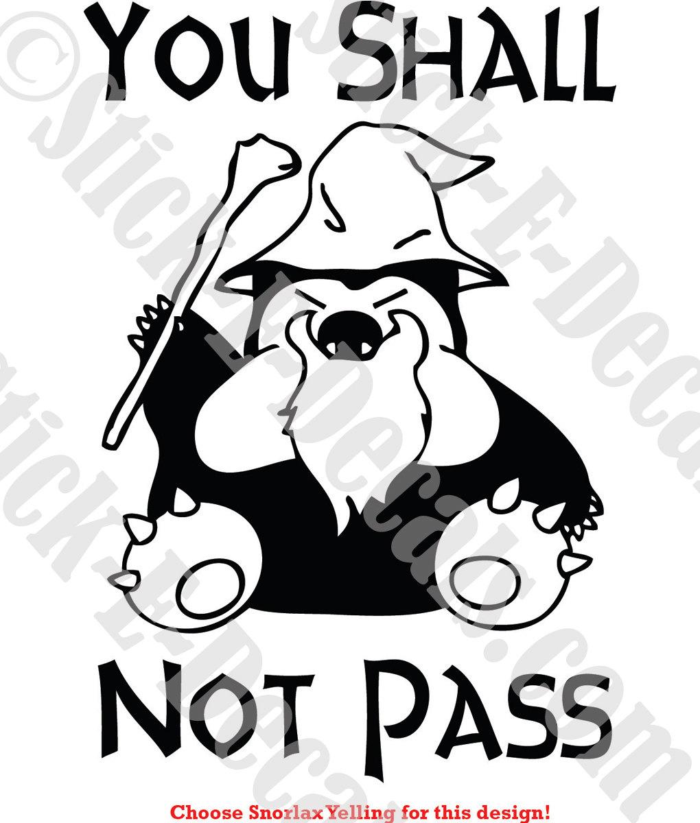 Pokemon Snorlax Sticker