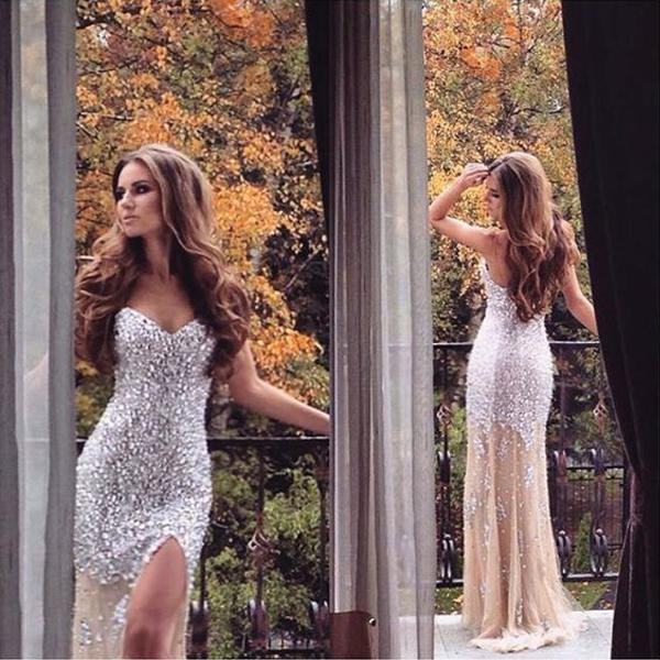 7e22c9bc6b Champagne prom dress