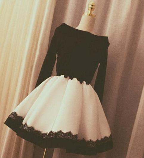 a2343bf75721 cute black white short dresses
