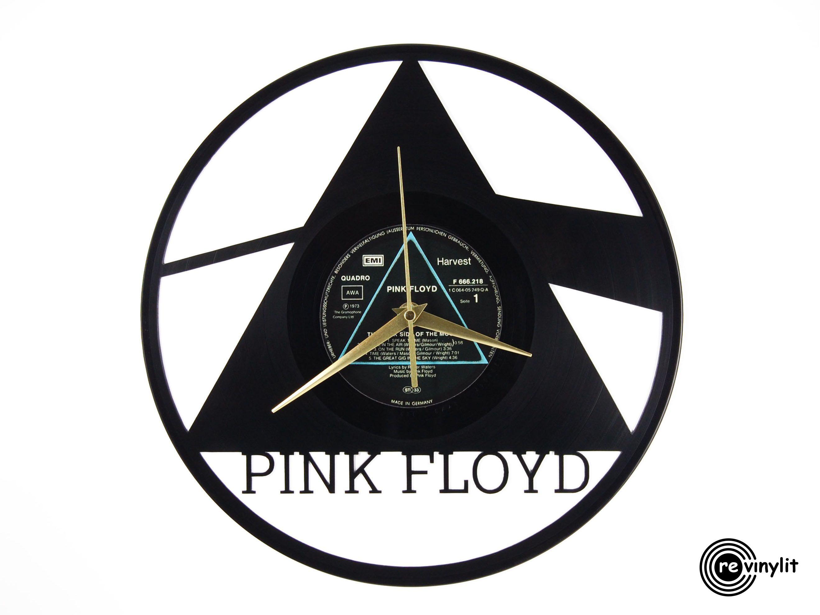 Pink Floyd Dark Side Of the Moon vinyl record clock ||| Revinylit