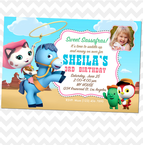 Ithinkparty Sheriff Callie Invitation Callie Birthday Invites